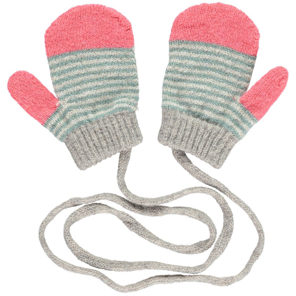 super soft - and super cute - 100% merino lambswool mittens.  Featuring an old school string to keep them attached, they are comfortable, snug and fun. Designed by Catherine Tough in London and made in Scotland at Port of Raleigh