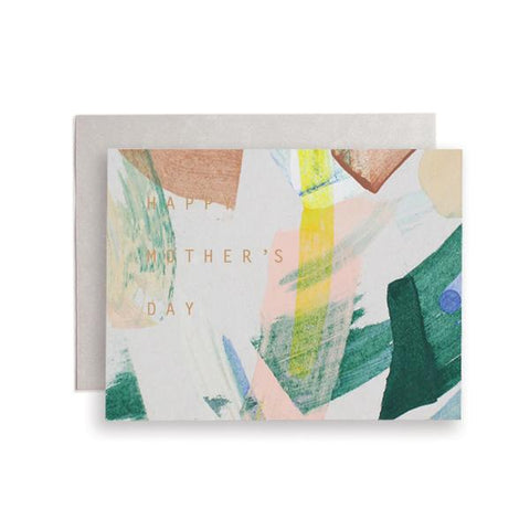 A beautifully painted card for the Mother in your life. Hand painted and foil pressed in Iowa by Moglea Studio.