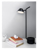 Multi-adjustable modern side table and desk LED lamp by Menu