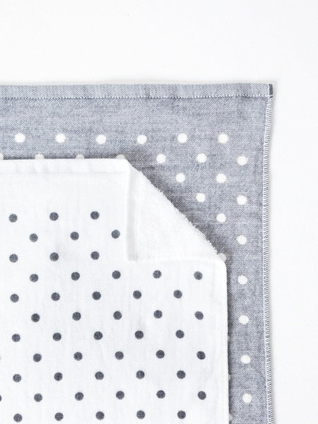 Grey Polka Dot Chambray Towel at Port of Raleigh
