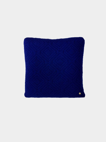 Quilt Cushion Dark Blue