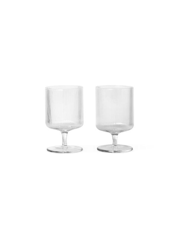 Ripple Wine Glass, Clear (Set of 2) (Back ordered ETA late June 2020)
