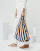 Minimalist reusable ripstop nylon bag by Baggu in Peach 90s Stripe at Port of Raleigh