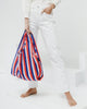 Baggu Reusable Bag, Red 90s Stripe