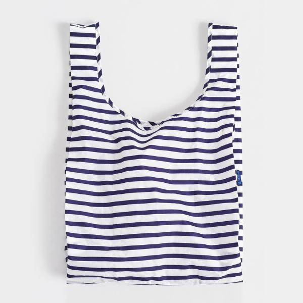 Minimalist reusable ripstop nylon bag by Baggu. Perfect for packing your day's groceries, lunch, or any everyday essentials. Now in Sailor Stripe. at Port of Raleigh