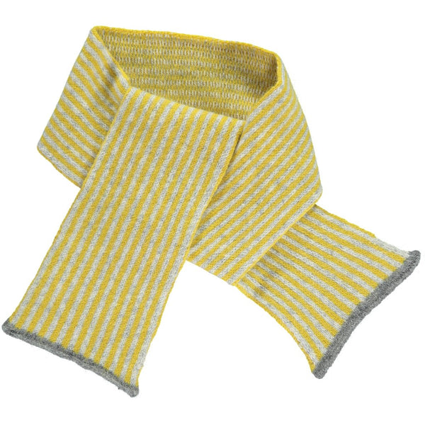 100% lambswool scarf for kids ages 2-4. We love lambswool for being naturally insulating, breathable, durable, and seriously soft. Made in England by Catherine Tough at Port of Raleigh