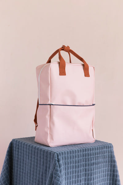 Modern kids backpack in fun colors and water resistant nylon canvas by Sticky Lemon at Port of Raleigh