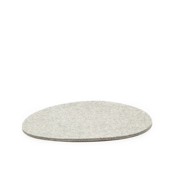 Stone shape modern and minimalist felt wool trivet or large coaster made in USA by Graf Lantz at Port of Raleigh