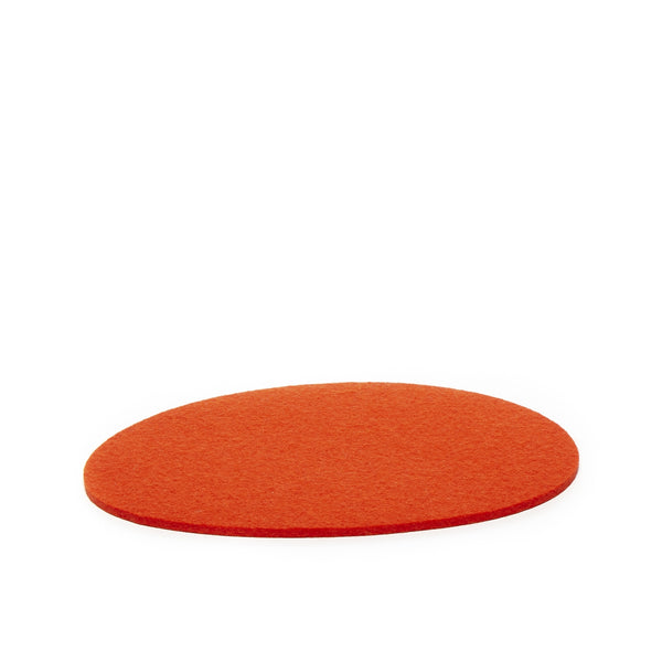 Stone shape modern and minimalist felt wool trivet or large coaster made in USA by Graf Lantz
