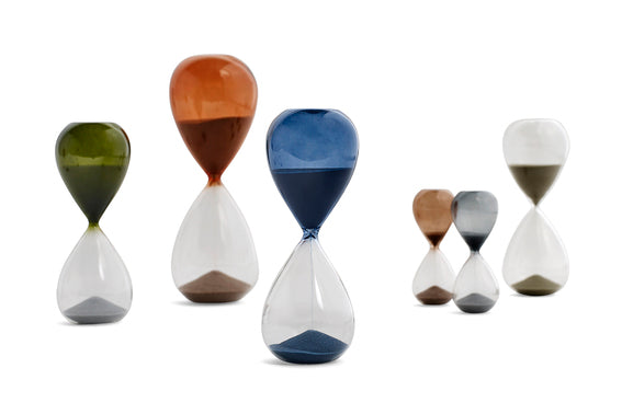 A contemporary twist on the classic hourglass timer by HAY
