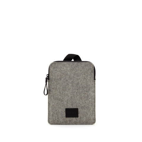 Modern minimalist iPad Mini carrying case made in USA of durable merino felt wool by Graf Lantz