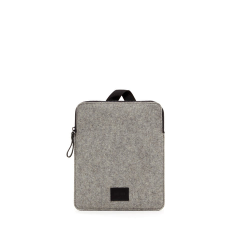 Modern minimalist iPad Pro carrying case made in USA of durable merino felt wool by Graf Lantz