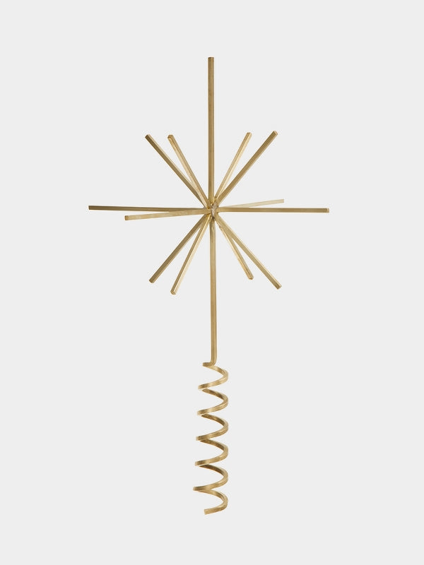 Simple modern tree top star in solid brass by Ferm Living at Port of Raleigh