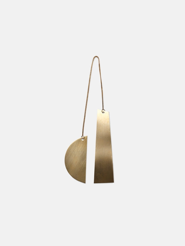 Simple modern ornament in brass by Ferm Living at Port of Raleigh