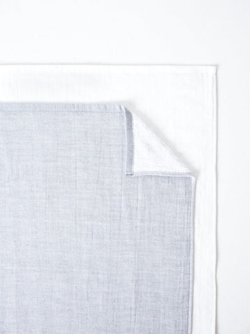 Black/White Two Tone Chambray Towel