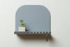 minimalist graphic statement wall shelf with hooks made in USA my Most Modest