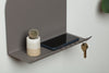 minimalist graphic statement wall shelf with hooks made in USA my Most Modest at Port of Raleigh