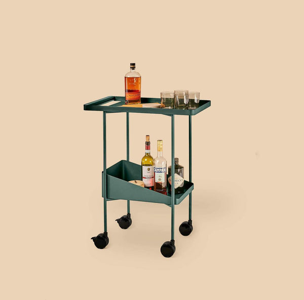 A simple but sturdy and sleek trolley cart that can be used for every task in your home or office. Made of FSC-certified ash wood and lead-free, powder coated steel by Dims.