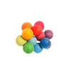 Wood bead grasper by Grimm's. A natural and hand-sanded moveable cluster toy in colorful beads. Great gift for newborns and babies