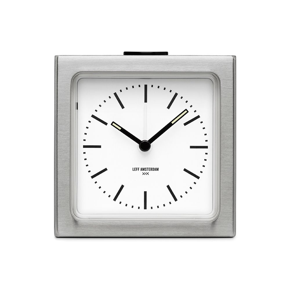 A handsome modern and simple alarm clock by Left Amsterdam at Port of Raleigh