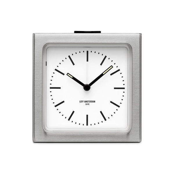 A handsome modern and simple alarm clock by Left Amsterdam