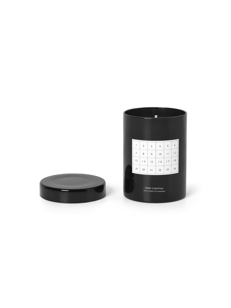 A modern candle to honor the Danish tradition of Kalenderlys, the glass features a calendar chart to mark off each day you burn it up till Christmas Eve. Made with palm oil and soy wax it emits the perfectly nostalgic cinnamon scent. Made in China with palm oil and soy wax.  at Port of Raleigh
