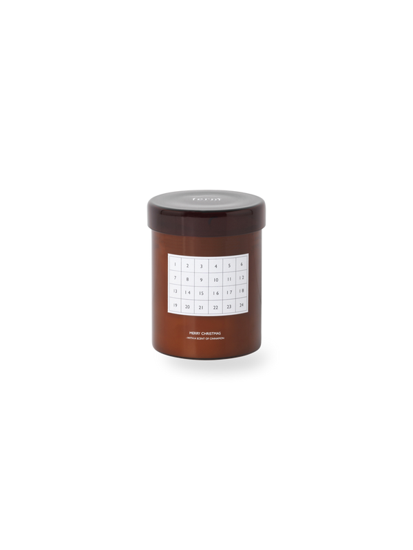 Christmas Scented Calendar Candle, Red Brown