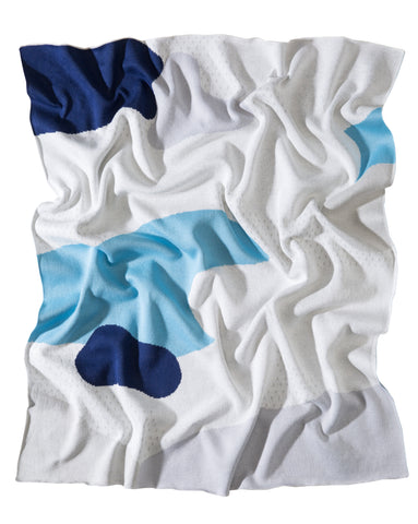 Cotton Baby Blanket, The Clarke Blue