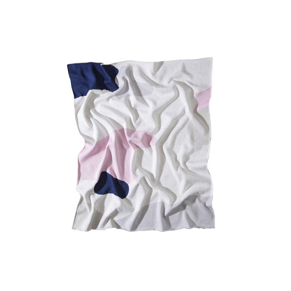 Cotton Baby Blanket, The Clarke Pink at Port of Raleigh