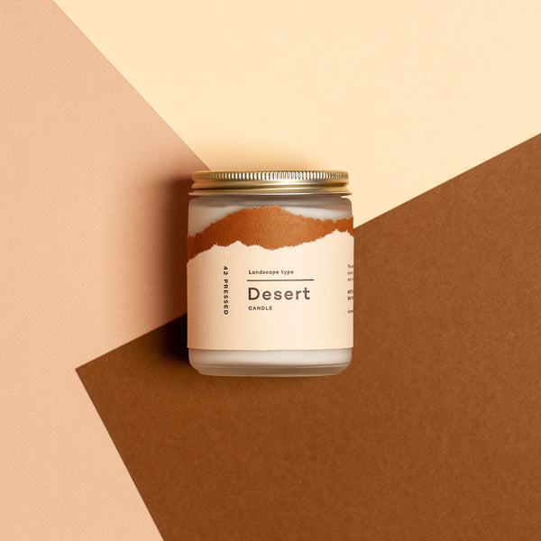 Let the thoughtful scent notes of Clary Sage, Pinyon, Copal and Dry Woods to take you to the desert. Made in USA using soy wax and essential oils by 42 Pressed.
