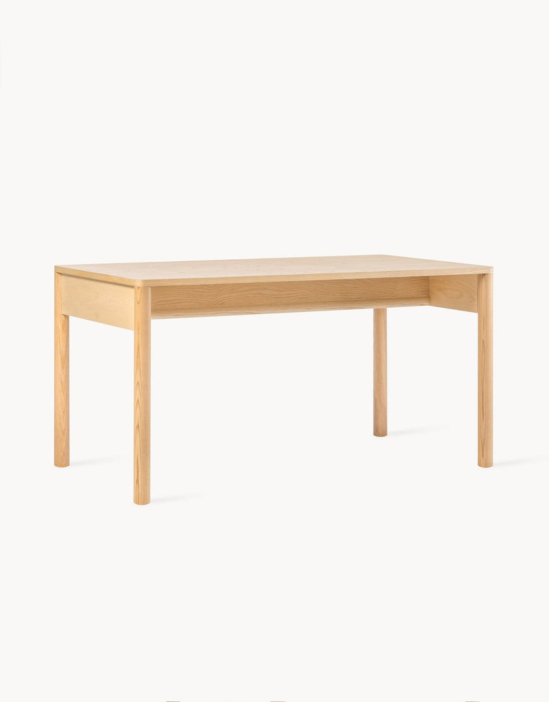 A modern table with simple finishing, the Eave Table is the perfect dining table or office table. Made with FSC-certified ash wood legs and a veneer table top, by Dims. at Port of Raleigh