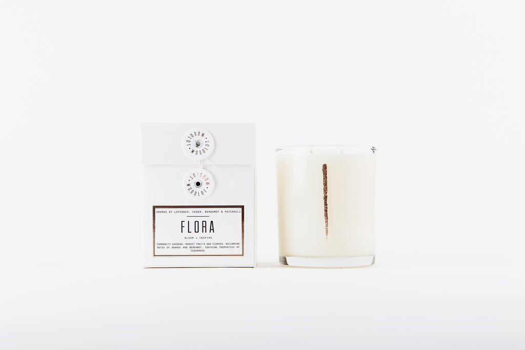 Woodlot Candle, Flora 13.5oz at Port of Raleigh