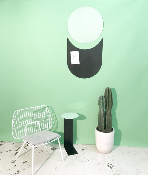 Playful, artistic, and graphic, the wall art kit is the perfect way to play with your home decor. Designed in Raleigh, North Carolina by Artish Studio, this moveable art is easily mounted using magnets and can be re-designed over and over. Made with lacquer coated steel and comes in two reversible colors for mixing and matching.