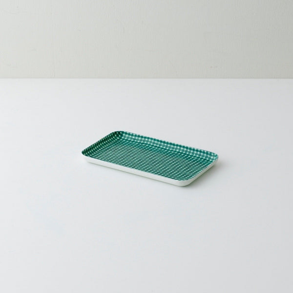 Linen resin tray for serving or organizing made of lithuanian linen fabric set in resin, designed in Japan by Fog Linen
