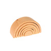 Minimalist wooden stacking and nesting toys that are natural, FSC certified, and non-toxic by Grimm's at Port of Raleigh