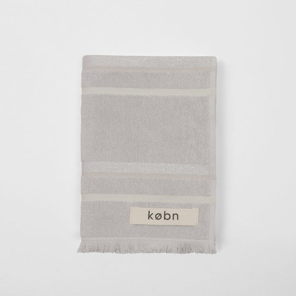 Købn Hand Towel - Silver at Port of Raleigh