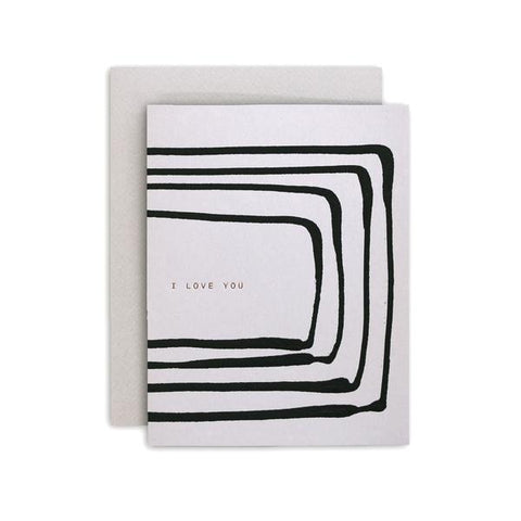 Card - I Love You Stripe
