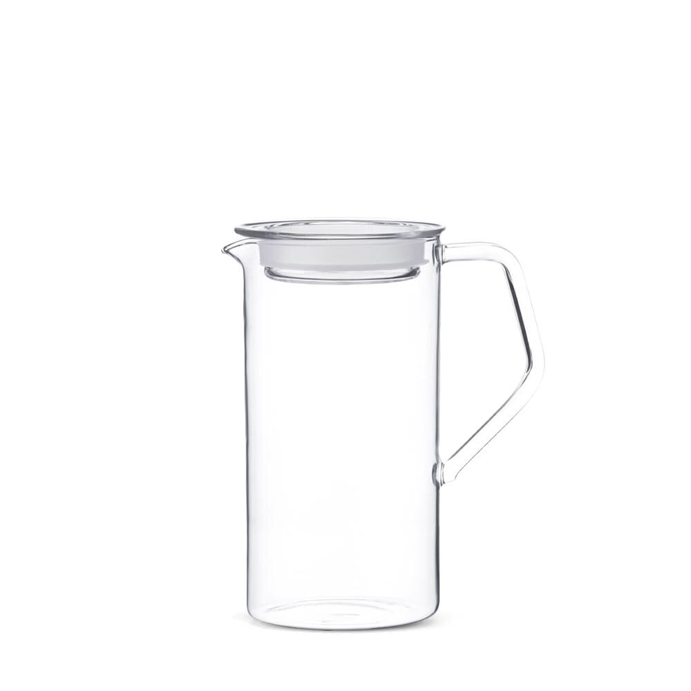 Made by renown glass makers Kinto, the Cast Water Jug is perfect as your daily water server. Made from heat-resistant glass, you can also use it to hold coffee, wine, or juice. Comes with a glass lid with a silicone gasket. Made in Japan.  at Port of Raleigh