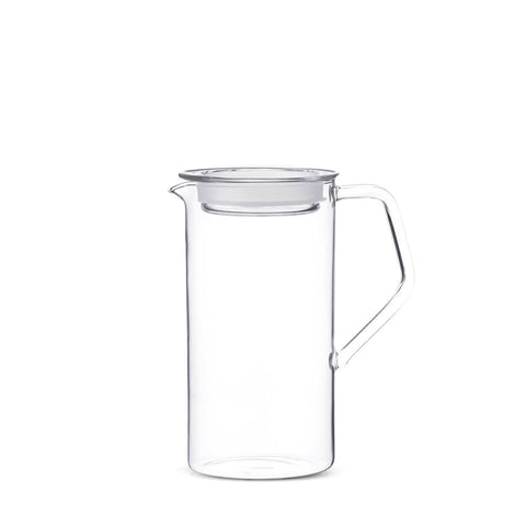 Made by renown glass makers Kinto, the Cast Water Jug is perfect as your daily water server. Made from heat-resistant glass, you can also use it to hold coffee, wine, or juice. Comes with a glass lid with a silicone gasket. Made in Japan.