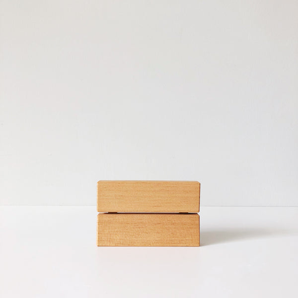 A soap dish that remedies the slimy soap and residue, this Japanese-designed dish is made with Red Pine wood that is beveled and breathable, making it naturally antibacterial.  at Port of Raleigh