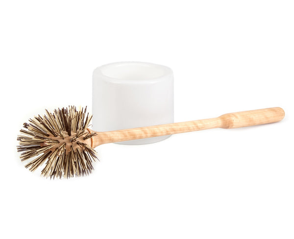 Toilet Brush with White Plastic Cup