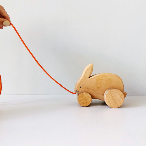 Bobbing Rabbit Pull Along Wood Toy