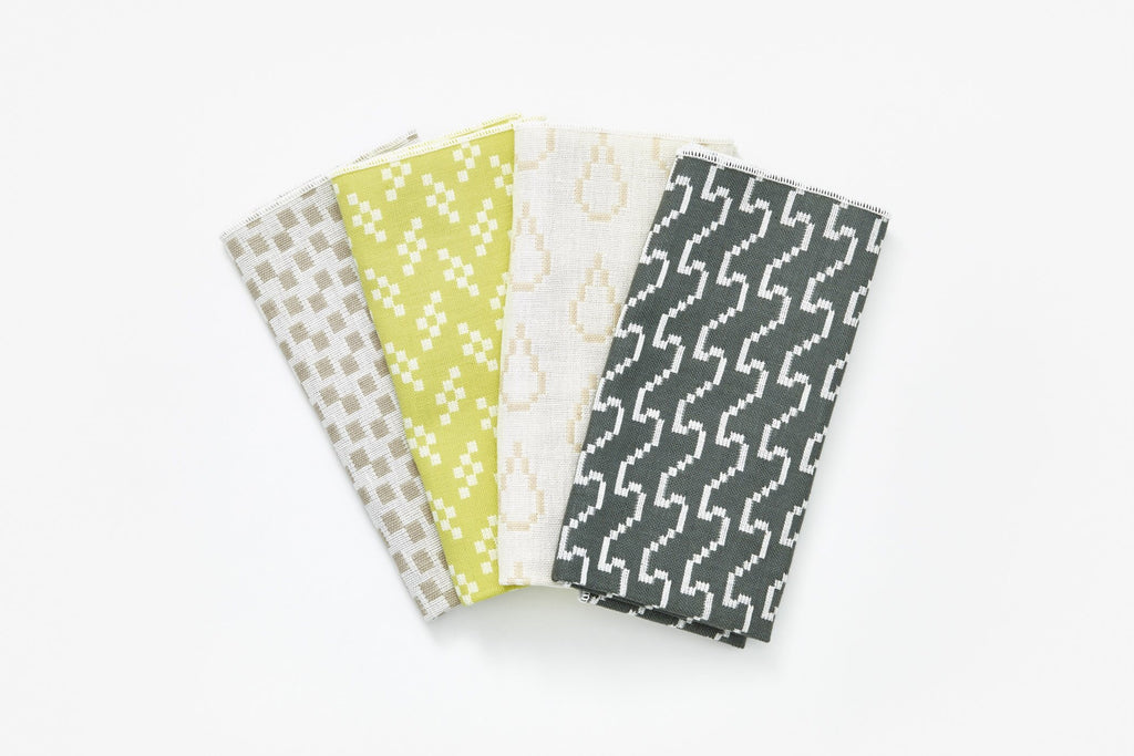 modern napkin set Bitmap Textiles for Areaware at Port of Raleigh