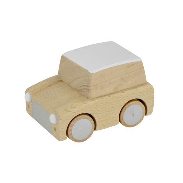 A classic wind-up car with modern style. The Kuruma car is made in Japan of beech wood and is perfectly simple and durable for all the little years of imaginative play. at Port of Raleigh