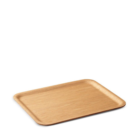 Simple nonslip wood tray for serving and corralling items. Designed by Kinto Japan