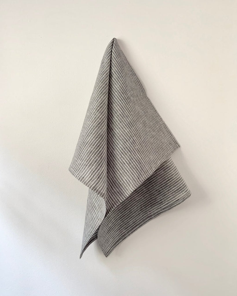 Lithuanian made Linen kitchen cloths from Fog Linen. Durable, made in chic patterns, perfect for all your kitchen tasks, and great for serving, too. at Port of Raleigh