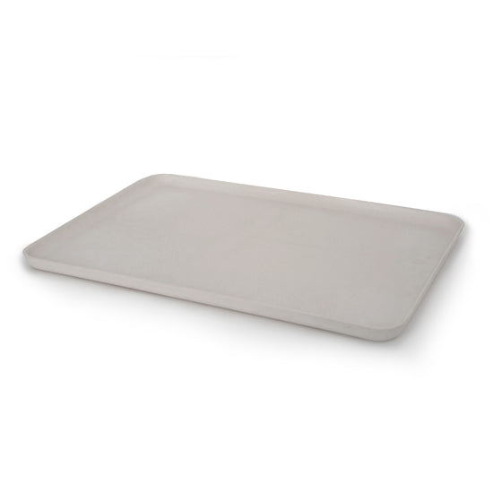 Modern, durable, light weight, and minimal bamboo fibre serving trays by EKOBO that's eco-friendly. Designed in France.