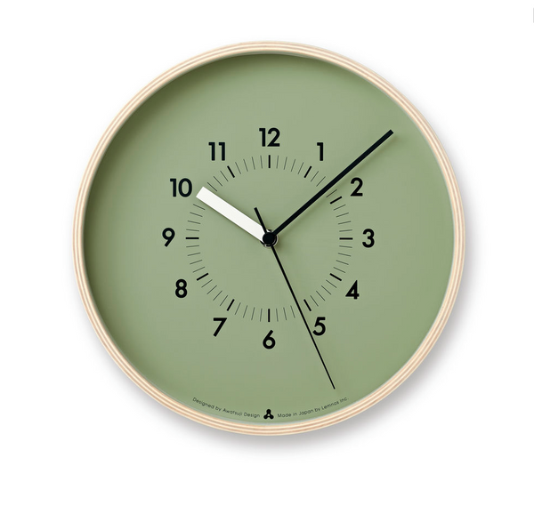 Soso Wall Clock, Green at Port of Raleigh