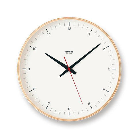 Plywood Clock White