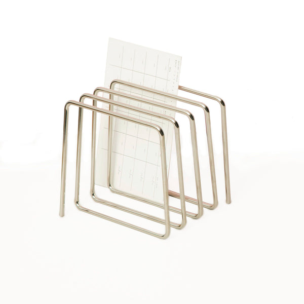 Modern and simple magazine rack also great for file folders and documents. Designed by Block in the UK